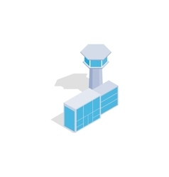 Airport building icon isometric 3d style vector image