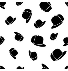 baseball cap seamless pattern vector image