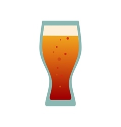 Beer glass cups icons set beer bottle isolated vector