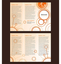 Brochure tri-fold layout design template connect vector
