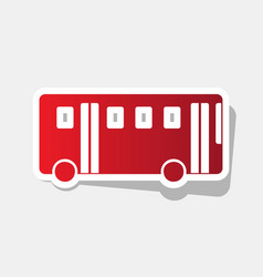 bus simple sign new year reddish icon vector image