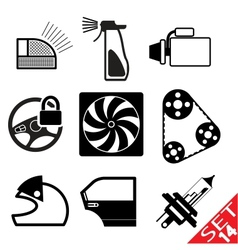 car part icon set 14 vector image