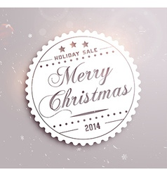 Christmas sale sticker vector