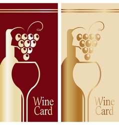 Cover for wine card gold and red vector
