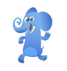 cute cartoon blue elephant icon vector image