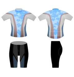Cycling vest sports vector