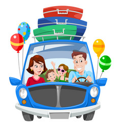 family vacation vector image vector image