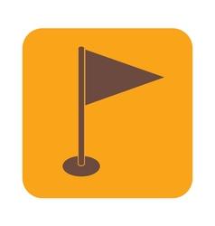 Flag icon Location marker symbol vector image vector image