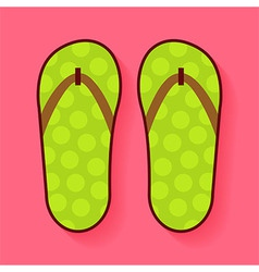 Flat Summer Shoes Flip Flops vector image