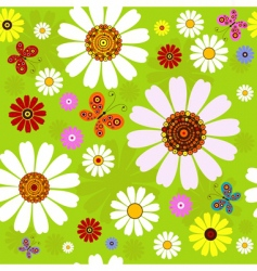 floral summer pattern vector image vector image