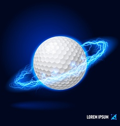 Golf high voltage vector image