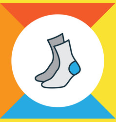 half-hose colorful outline symbol premium quality vector image