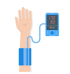 High blood pressure concept tonometr vector