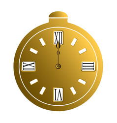 isolated pocket watch vector image