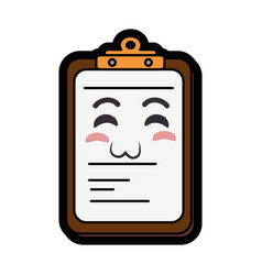 Kawaii report table icon vector