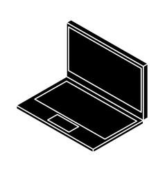 laptop computer isometric icon vector image