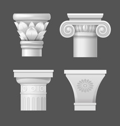 set capitals vector image vector image