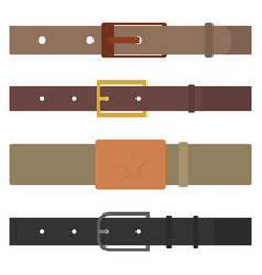 set of different flat colored belts vector image vector image