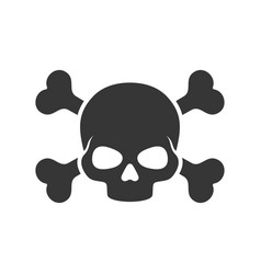 skull and crossbones icon on white background vector image