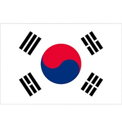 south korean flag vector image vector image