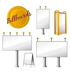 Steet Billboards Set vector image vector image