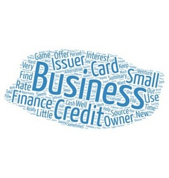 The game of business credit cards text background vector