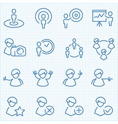 Universal GUI people theme icons set vector image