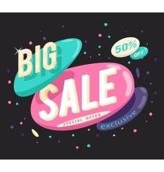 Advertising big sale banner layout special offer vector