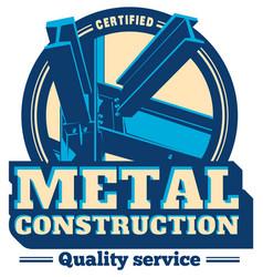 Building construction metal frame logo vector