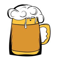 Beer mug icon cartoon vector