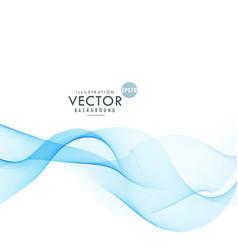 Stylish blue wave blending together design vector