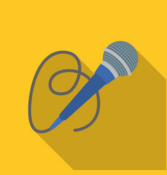 Microphone icon in flat style isolated on white vector