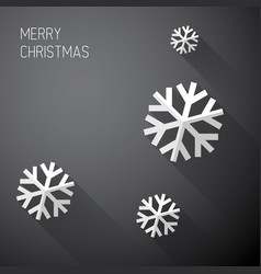 modern minimalistic christmas card with long vector image