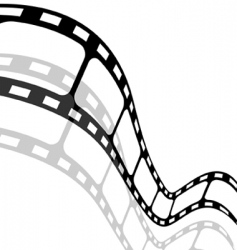 Blank film strip vector