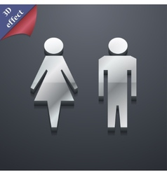 Toilet icon symbol 3d style trendy modern design vector