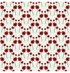 Seamless pattern with poppy vector