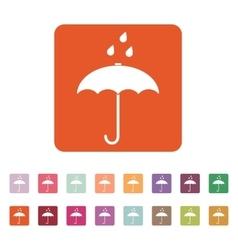 The umbrella bag icon rain protection symbol vector