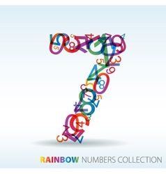 Rainbow number seven vector