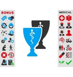Medical cups icon vector