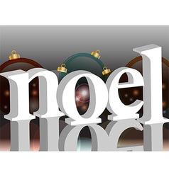 Noel background with baubles vector