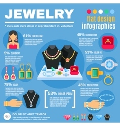 Jewelry infographic set vector