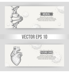 Creative concept background of the human heart vector