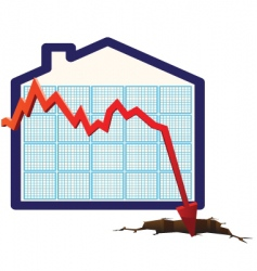 house prices graph vector image