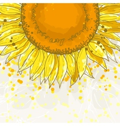 The square frame with sunflowers vector