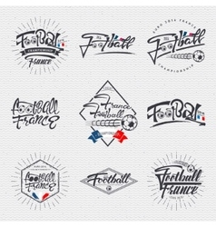 Footbal 2016 - badge sticker label insignia vector image