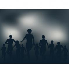 night runners vector image