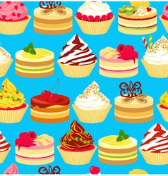 Cakes seamless vector