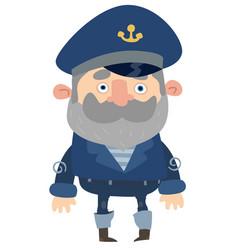 cartoon captain vector image vector image