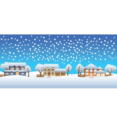 christmas houses vector image vector image