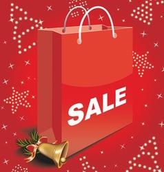 Christmas sale bag vector image vector image